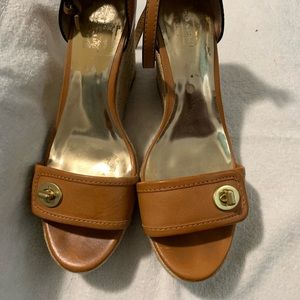 Used Coach Wedge Tan Sandals